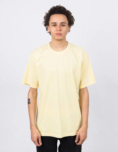 Polar Happy Sad Garment Dyed T-Shirt Light Yello