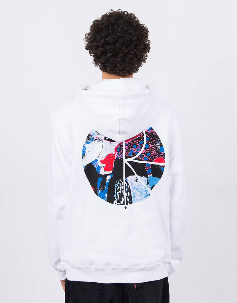 Polar Orchid Fill Logo Hoodie White