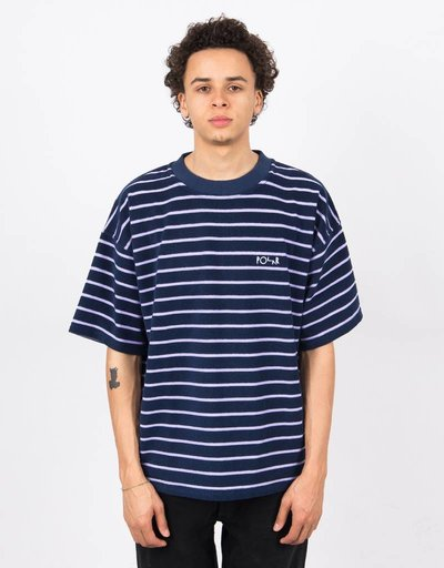 Polar Striped Terry Surf T-Shirt Navy/Violet
