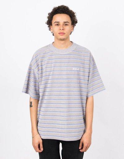 Polar Striped Terry Surf T-Shirt Light Grey/Blue