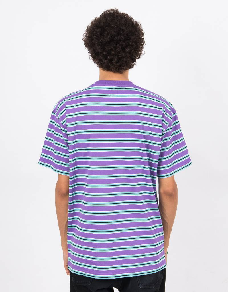 Polar Striped Pocket T-Shirt Violet/Mint