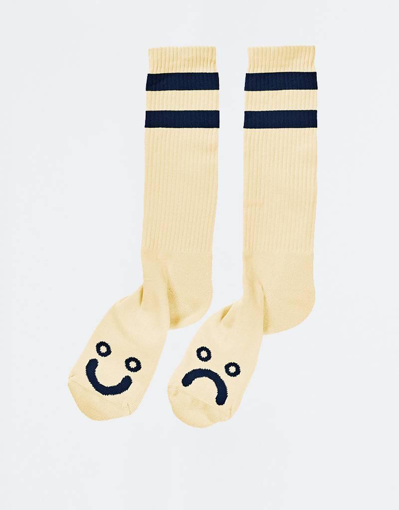Polar Happy Sad Socks Pastel Yellow