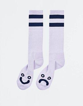 Polar Polar Happy Sad Socks Lavender