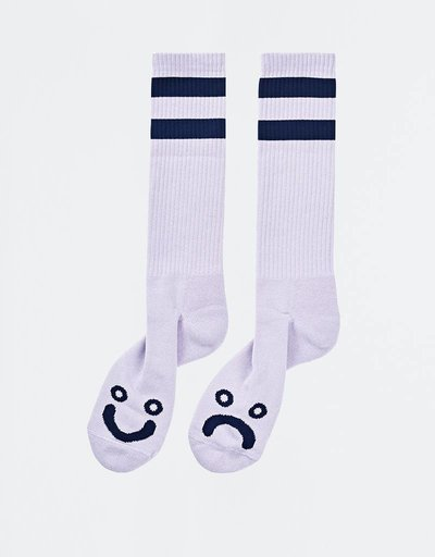 Polar Happy Sad Socks Lavender