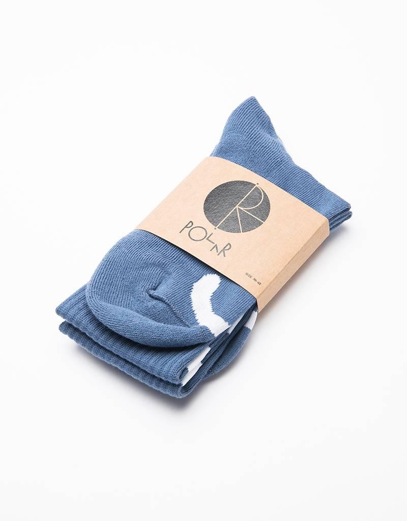 Polar Happy Sad Socks Captains Blue