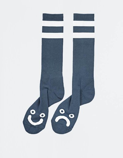 Polar Happy Sad Socks Captains Blue