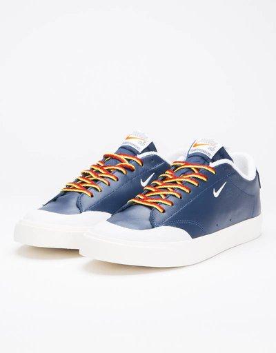 Nike SB X Quartersnacks Zoom Blazer Low XT navy/white-sail
