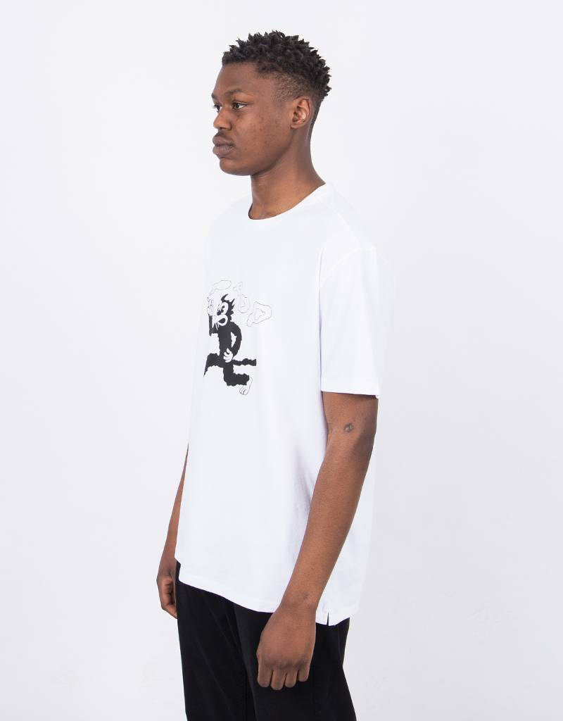 Pop Trading Co Malvin The Cat T-Shirt White