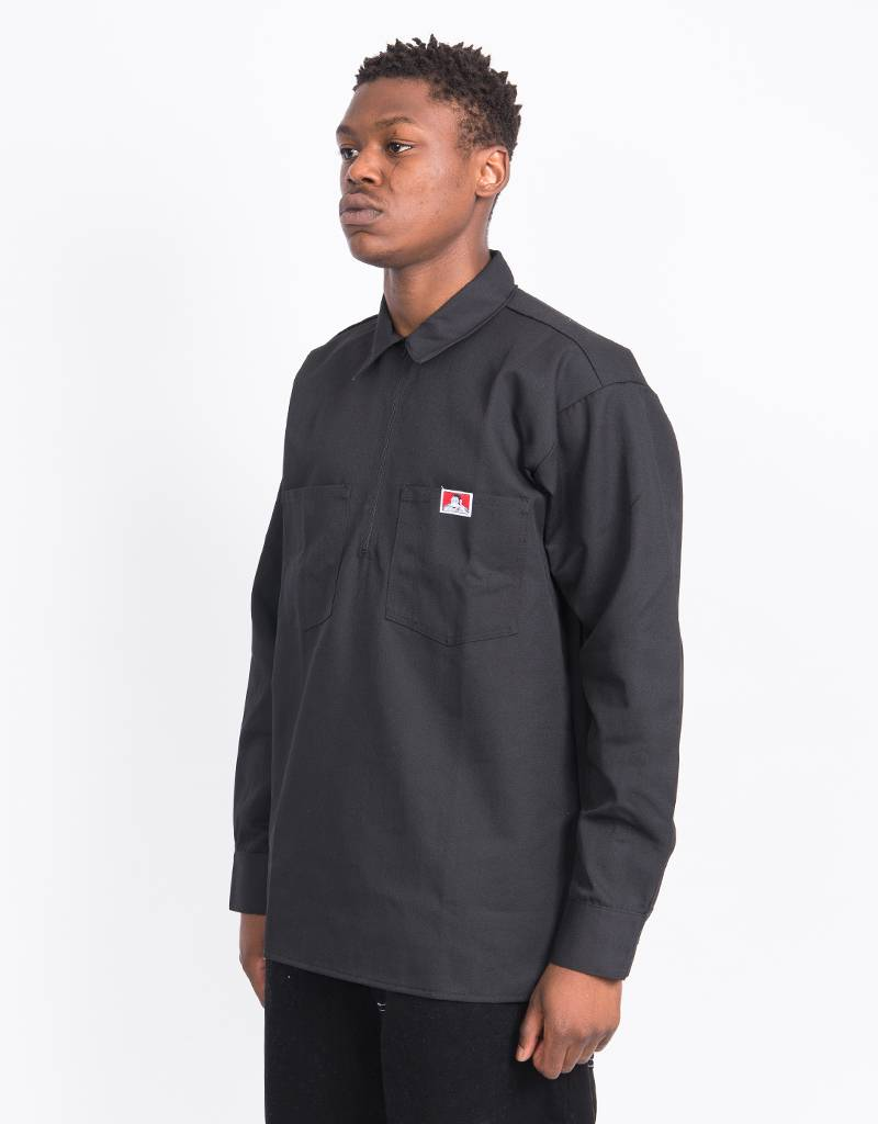 Ben Davis Halfzip Longsleeve Shirt Black