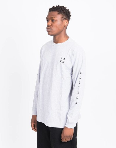 Numbers Vertical Stack Longsleeve Athletic Heather