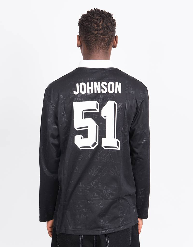 Adidas Johnson Jersey BLACK/WHITE/DGSOGR