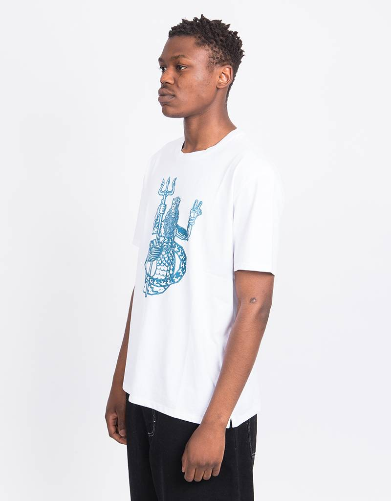 Pop Trading Co x Wayward Man Of The Sea T-Shirt White