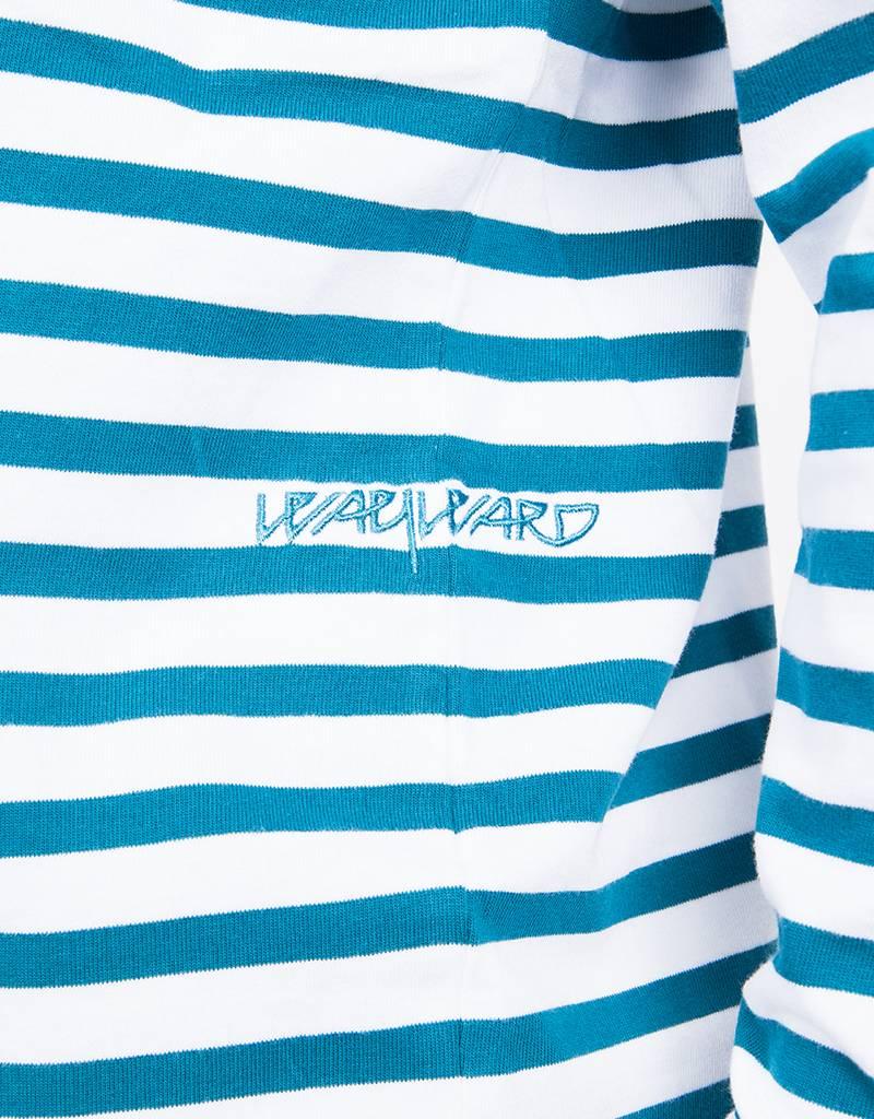 Pop Trading Co x Wayward WOW Longsleeve Ocean Green/Off White