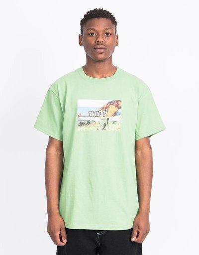 Fucking Awesome Car Burn T-Shirt Dill Green