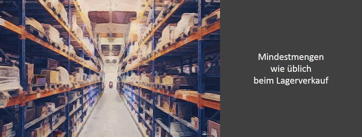 Mindestmengen wie beim Lagerverkauf