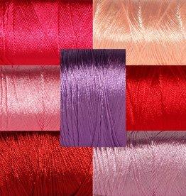 Unitas MARE Viskose-Garn: Rot-Pink-Lila, 100% Viskose