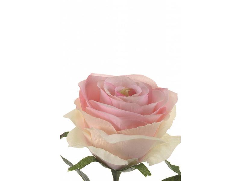 Roze kunstroos Simone 45cm
