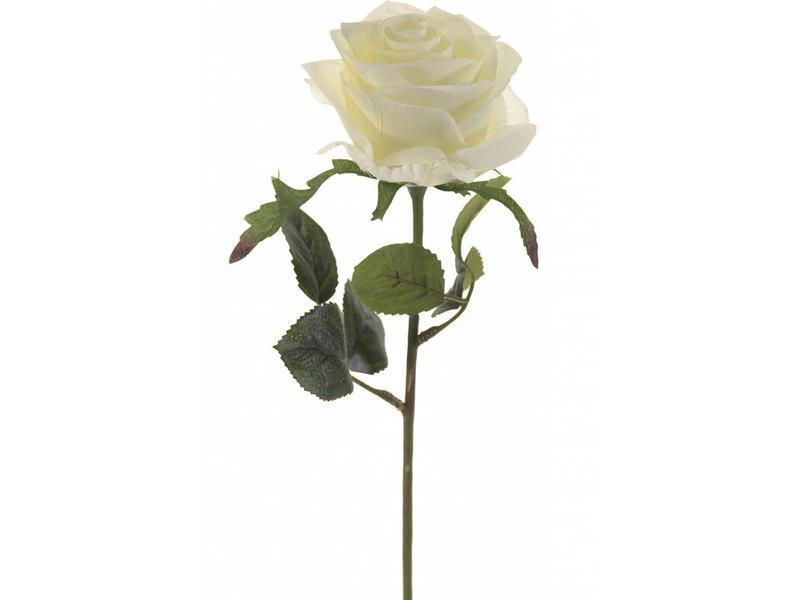 Kunstbloem Witte Roos Simone 45cm