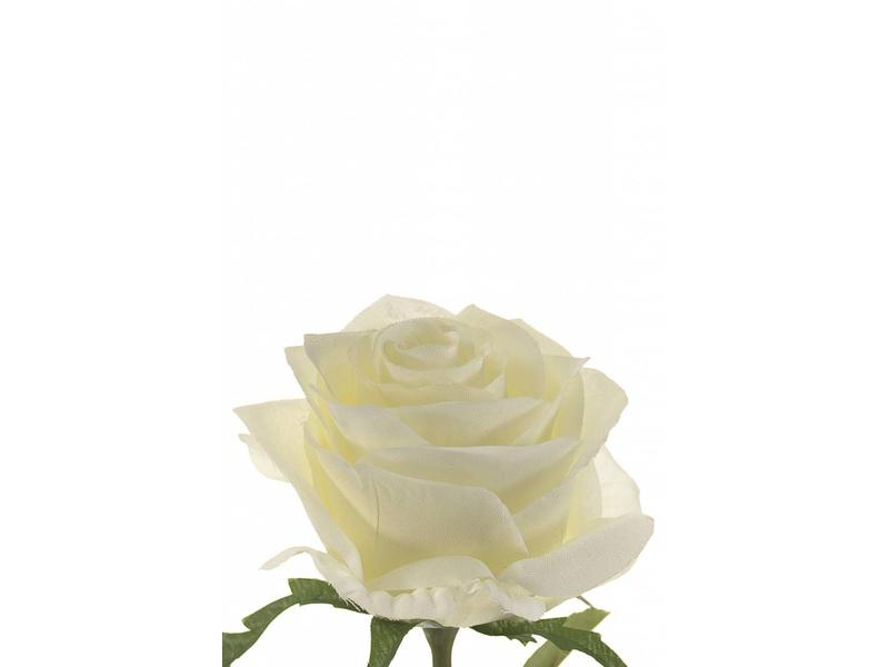 Witte kunstroos Simone 45cm