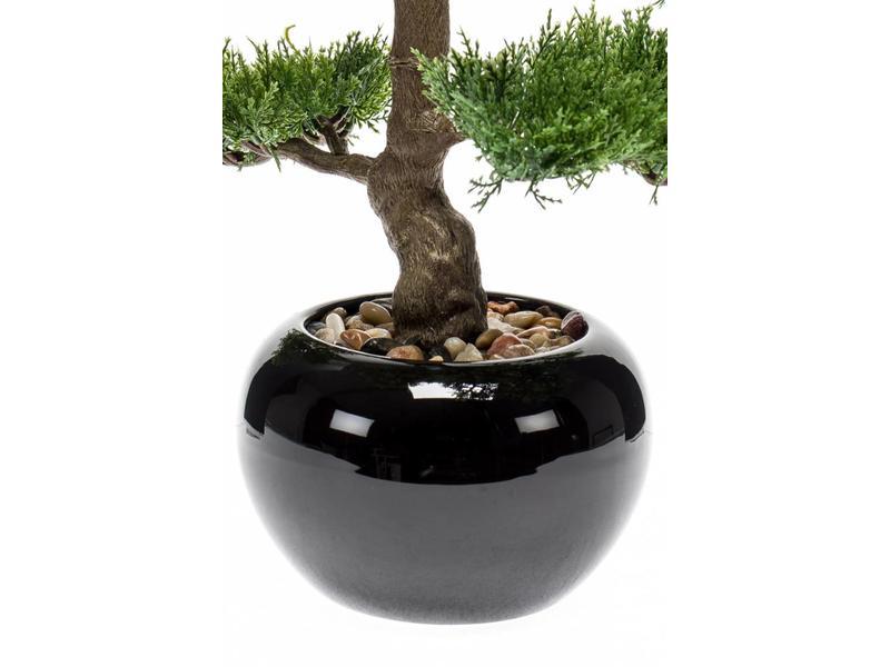 Kunstplant bonsai Cedar 34cm in pot