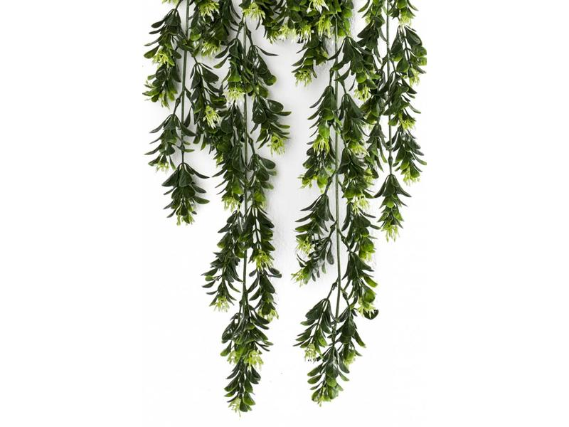 Kunst hangplant Buxus bloemen 75cm
