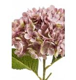 Hortensia kunstbloem roze 52cm