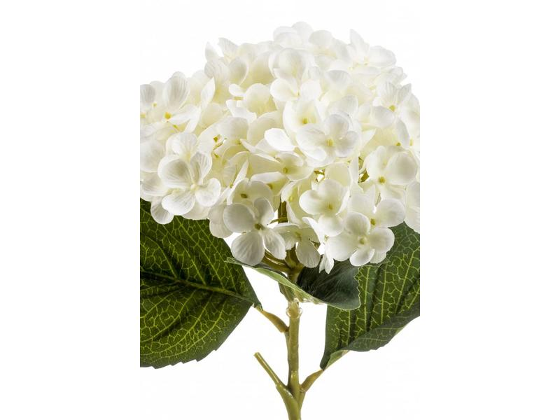 Hortensia kunstbloem wit 52cm