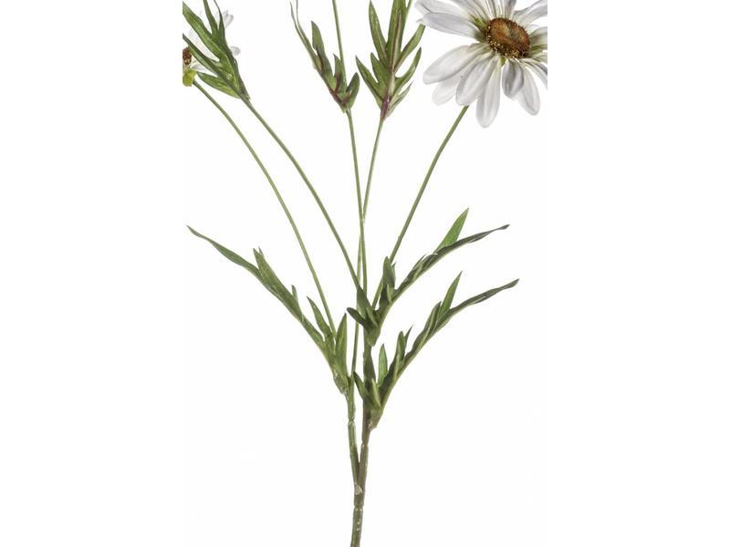 Kunstbloem margriet wit 78cm