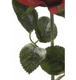 Rode kunstroos Simone 45cm