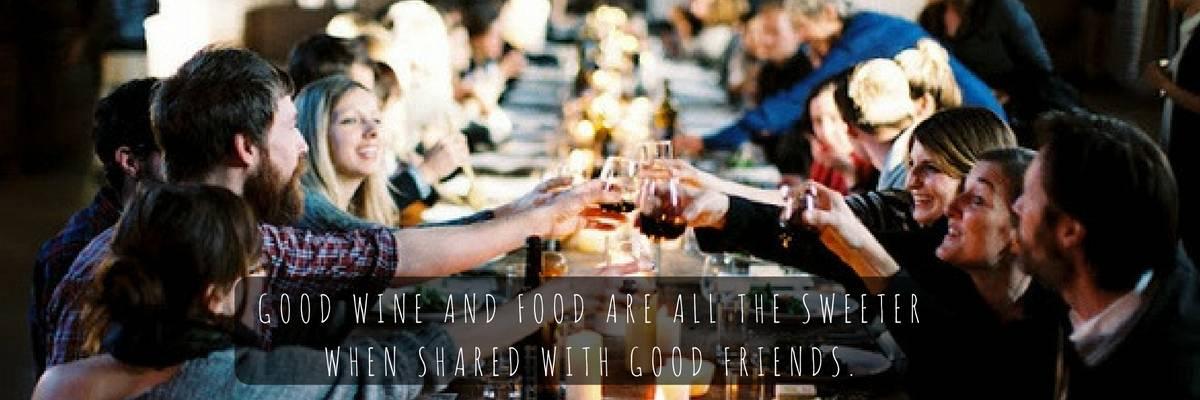 Good wine and food