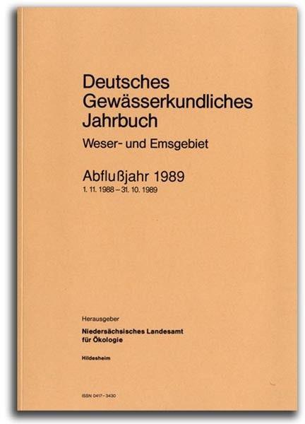DEUTSCHES GEWÄSSERKUNDLICHES JAHRBUCH WESER-EMSGEBIET 1989