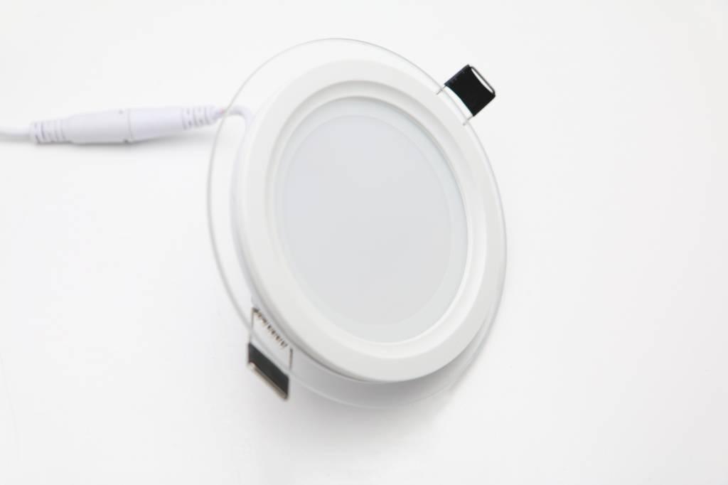 LED Einauleuchte, rund mit Glasrand - induled.ch