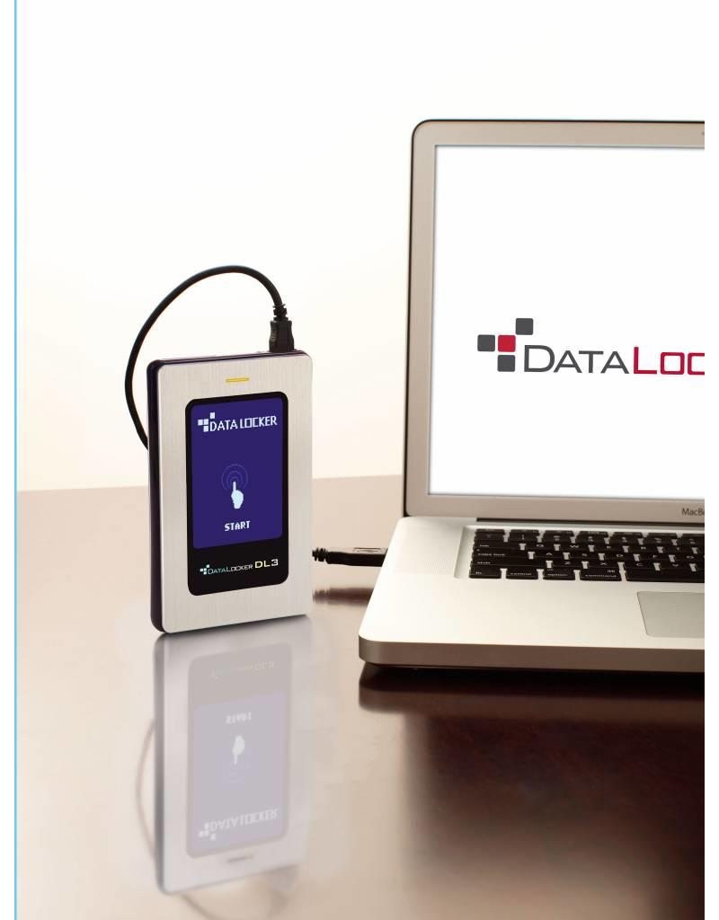 DataLocker DataLocker DL3 FE 500GB Verschlüsselte externe Festplatte FIPS Edition mit Two Pass 256-Bit AES Encryption Mode Hardware Data Encryption