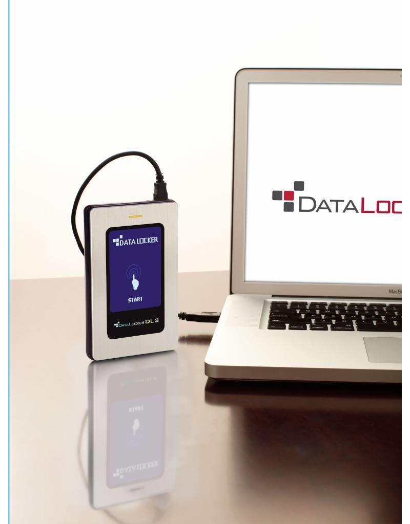 DataLocker DataLocker DL3 FE 512GB External Solid State Drive FIPS Edition with Two Pass 256-Bit AES Encryption Mode Hardware Data Encryption