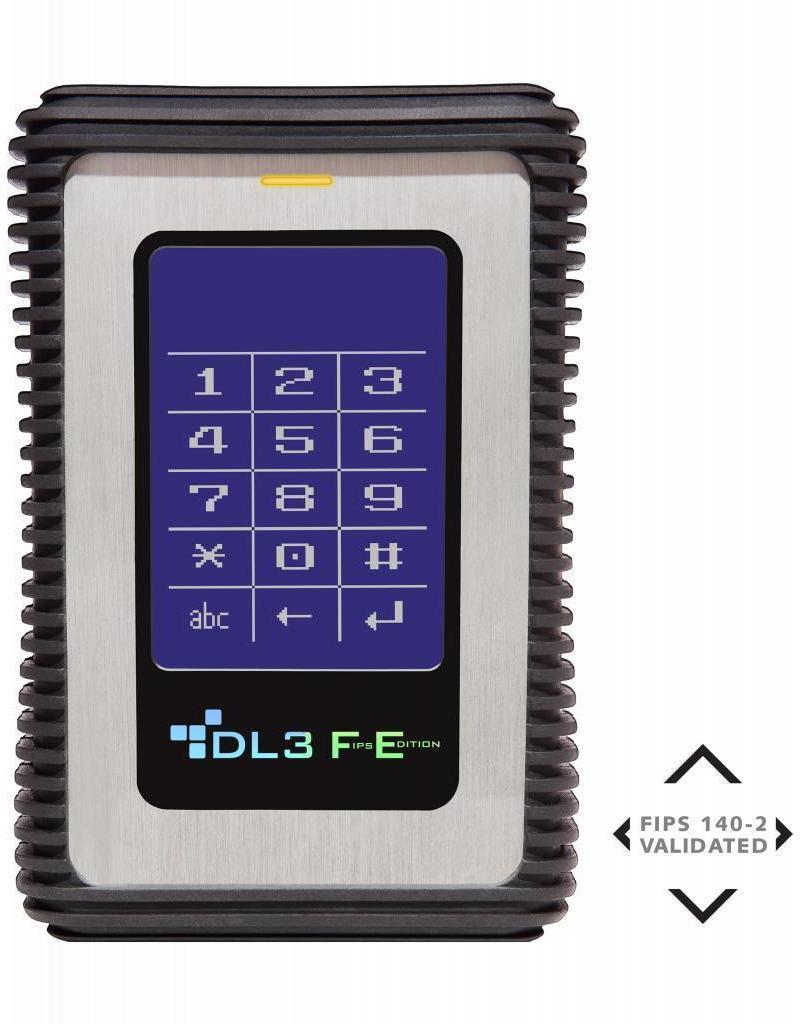 DataLocker DataLocker DL3 FE 1TB hardwarematig versleutelde externe harde schijf (FIPS Edition) met 2-voudige 256-Bit hardwarematige AES Encryptie en 2 Factor Authenticatie