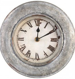 Bond Iron round grey wall clock