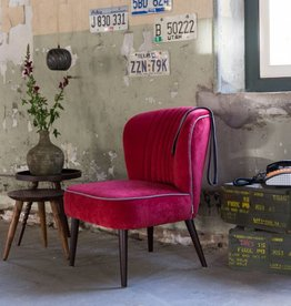 Dutchbone lounge chair smoked red