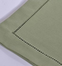 Runner fresh dk green .hemstitch set of 2