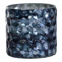 christmed dented blue glass tealight s