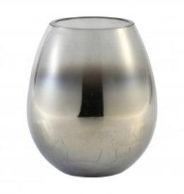 budoir silver glass vase crackle top s