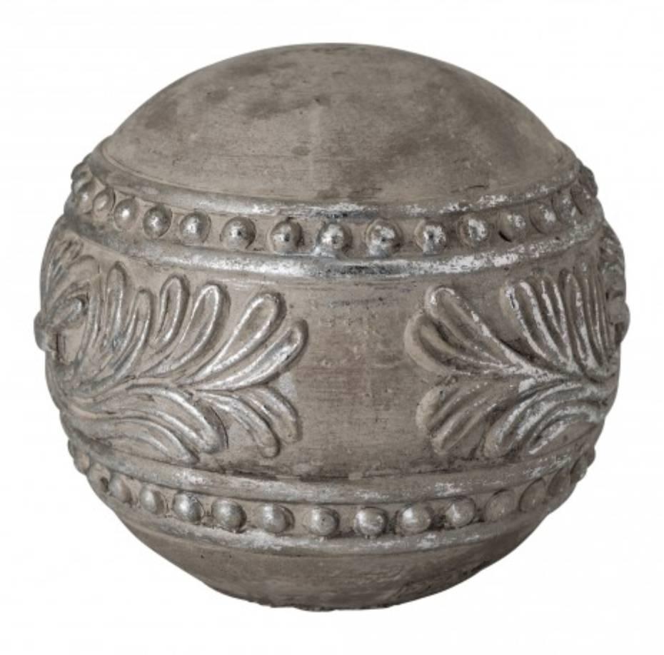 Christmas fairy ball cement silver