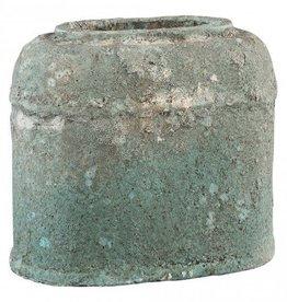 PTMD Cliff grey Antique ceramic ovale pot l