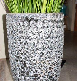 PTMD Bluzz dark green ceramic round pot high m