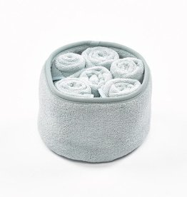 Simla Mandje m/ 6 handdoek polyamide grijsblauw