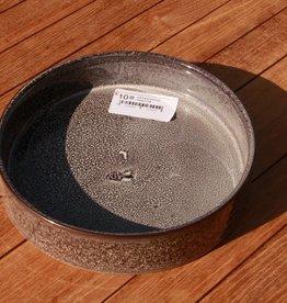 serveerschaal keramiek grijsblauw dia 20.5 H5 cm