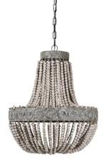 Beading brown hout hanglamp