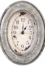 Bond Iron ovale grey wall clock