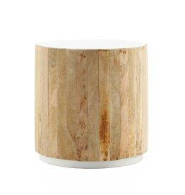 Koffietafel tube light 45x45 wit