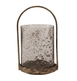 Alu copper stormlight with glass and handle L