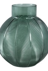Cary dark green glass leave straight belly L